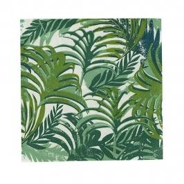 Juego de 20 servilletas de coctail con estampado de hojas de la selva tropical