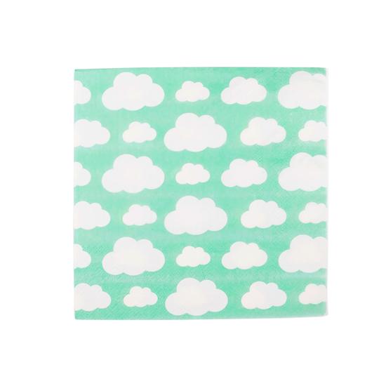 Juego de 20 Servilletas de papel Nubes