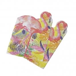 Juego de 20 Servilletas Flamingo Fun