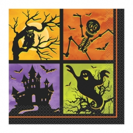 Juego de 20 servilletas Casa Embrujada Halloween