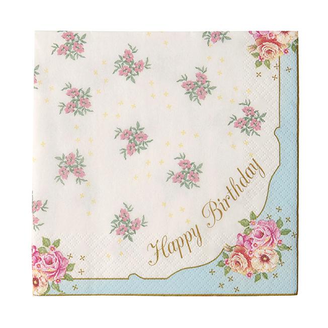 Juego de 20 Servilletas Happy Birthday