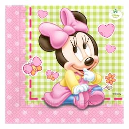 Juego de 20 Servilletas Minnie Bebé