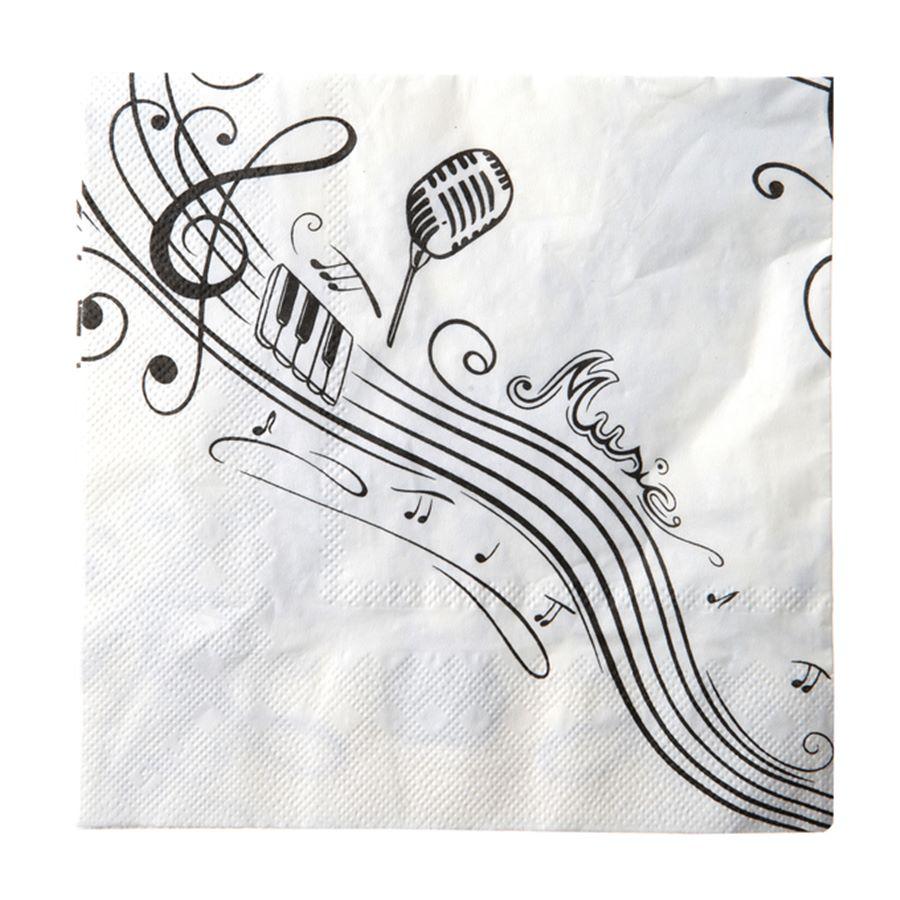 Juego de 20 servilletas Música