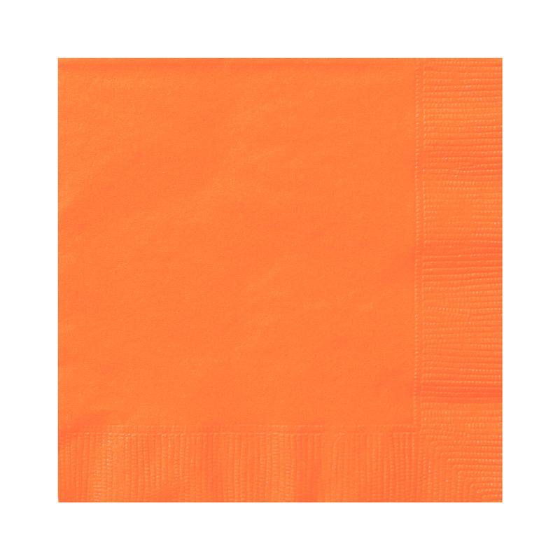 Juego de 20 Servilletas Naranjas