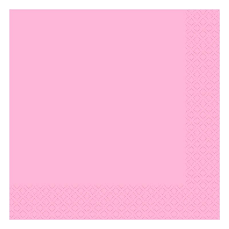 Juego de 20 Servilletas Rosa Pastel
