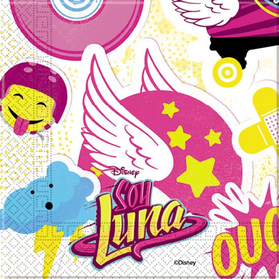 Juego de 20 Servilletas Soy Luna