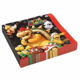 Juego de 16 Servilletas Super Mario