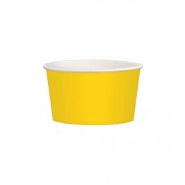 Juego de 20 tarrinas amarillas de cartón de 280 ml