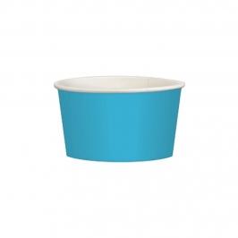Juego de 20 tarrinas azul Caribe de cartón de 280 ml