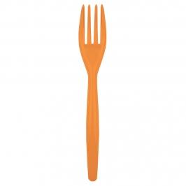 Juego de 20 Tenedores de Plástico Naranja