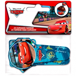 Juego de 24 Toppers Cars