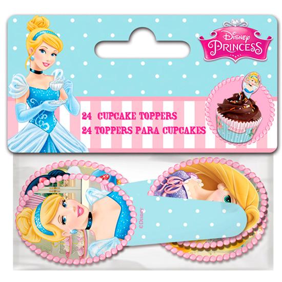 Juego de 24 Toppers Princesas