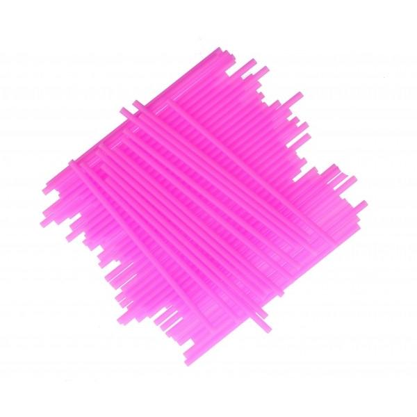 Juego de 25 palitos rosas para piruletas 15cm
