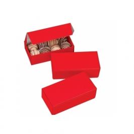 Juego de 3 cajas rojas para dulces