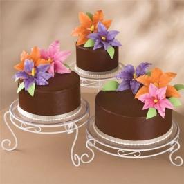 Juego de 3 Soportes metálicos para dulces y tartas