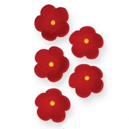 Juego de 30 flores rojas de azúcar PME