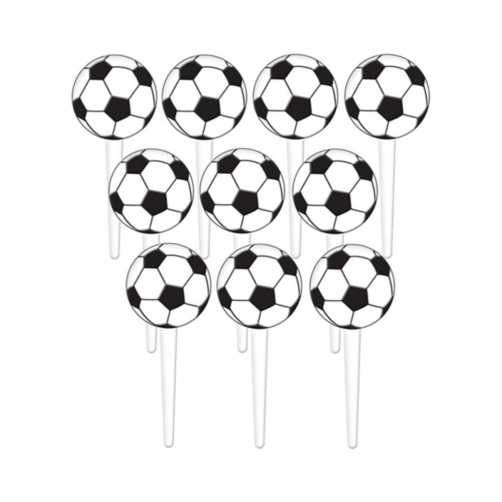 Juego de 36 Toppers para Dulces Balón de Fútbol