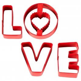 Juego de 4 Cortadores Love