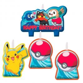 Juego de 4 Velas Pokémon