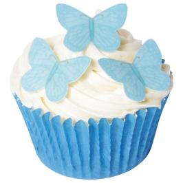 Juego de 42 obleas Mariposas Azules