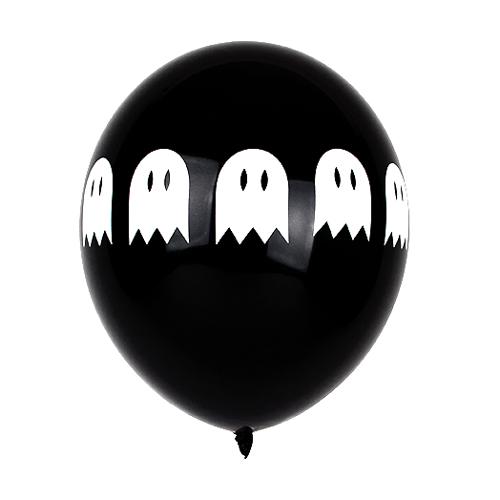 Juego De 5 Globos De Latex Fantasma Comprar Online My Karamelli