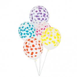 Juego de 5 globos Confeti Multicolor