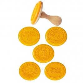 Juego de 5 sellos para galletas y fondant