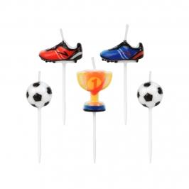 Juego de 5 Velas Fútbol