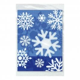Juego de 50 Bolsas para Dulces Copos de Nieve