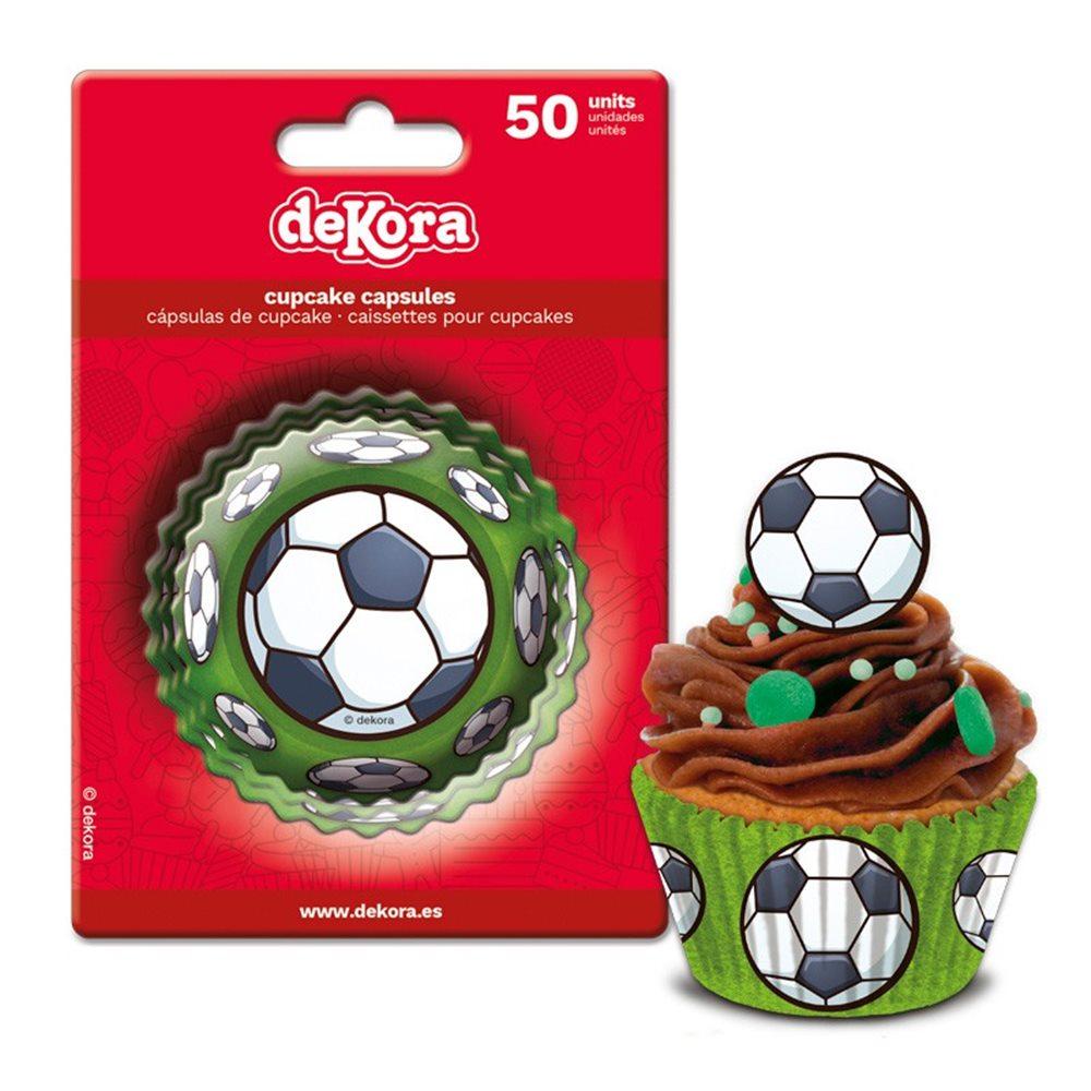 Juego de 50 Cápsulas para hornear Fútbol