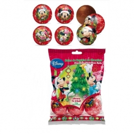 Juego de 6 bolas de chocolate Mickey y Minnie
