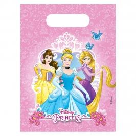 Juego de 6 bolsas para chuches Princesas Disney heart