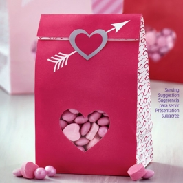 Juego de 6 Bolsas para Dulces con Pegatinas Corazón