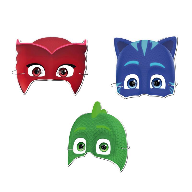 Juego de 6 Caretas Pj Masks