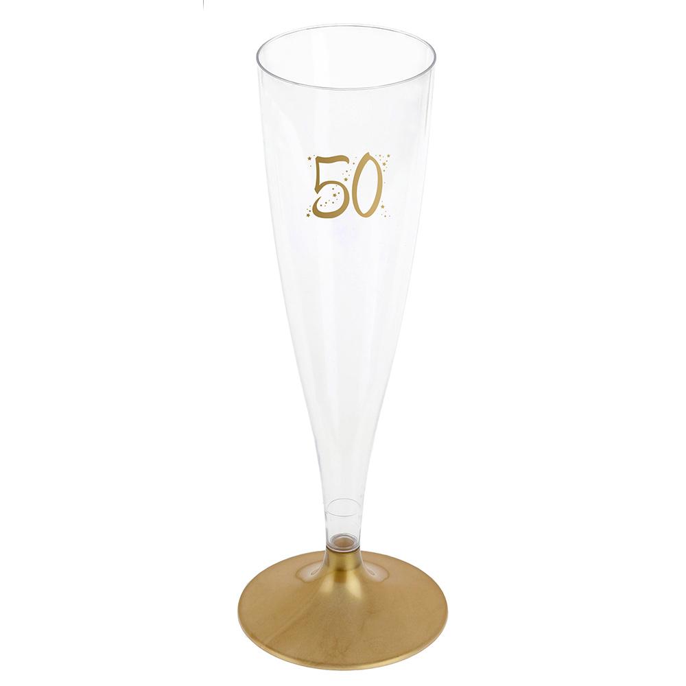 Juego de 6 Copas 50 Cumpleaños Doradas