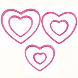 Set de 6 cortadores corazones Wilton
