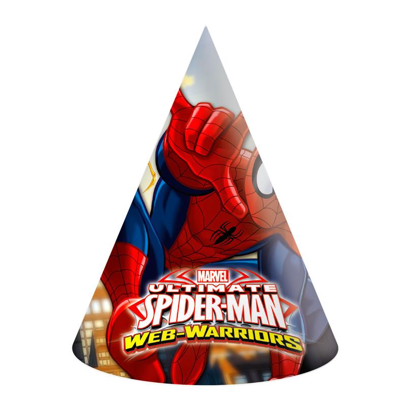 Juego de 6 Gorros Ultimate Spiderman