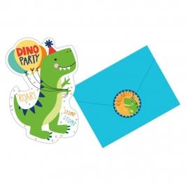 Juego de 6 Invitaciones de Jurassic World