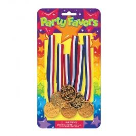 Juego de 6 Medallas de Plástico