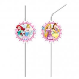 Juego de 6 Pajitas Flexibles Princesas Disney Modelo B