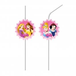 Juego de 6 Pajitas Princesas Disney