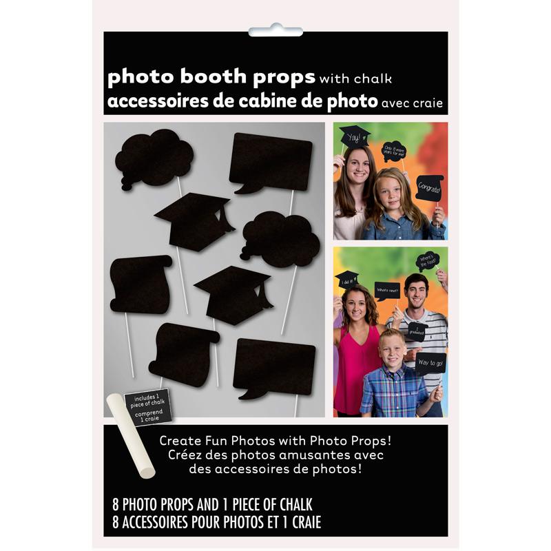 Juego de 8 accesorios para Photocall Graduación
