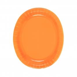 Juego de 8 Bandejas Naranjas 30 cm
