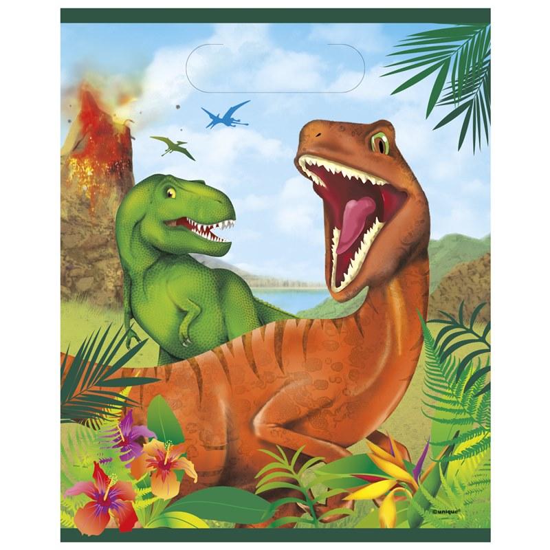 Juego de 8 Bolsas para Chuches Dinosaurios