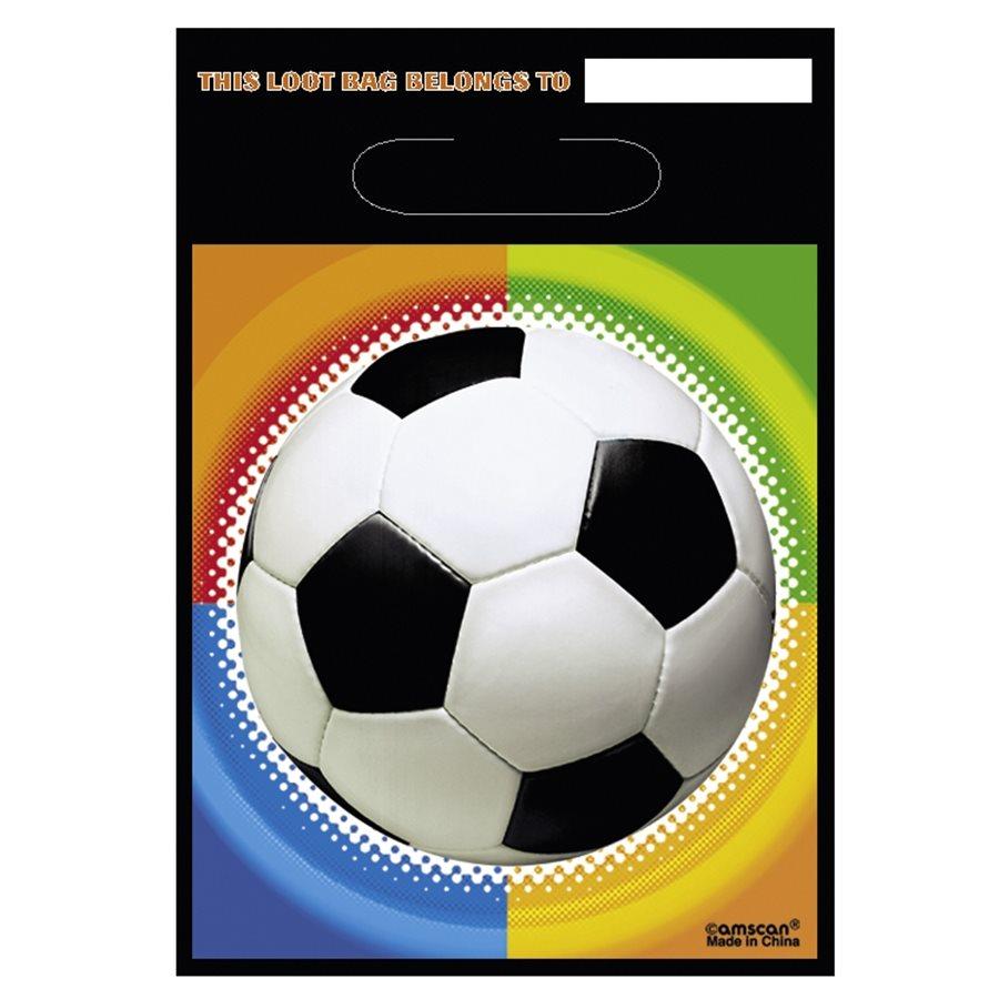 Juego de 8 Bolsas para Chuches Fútbol