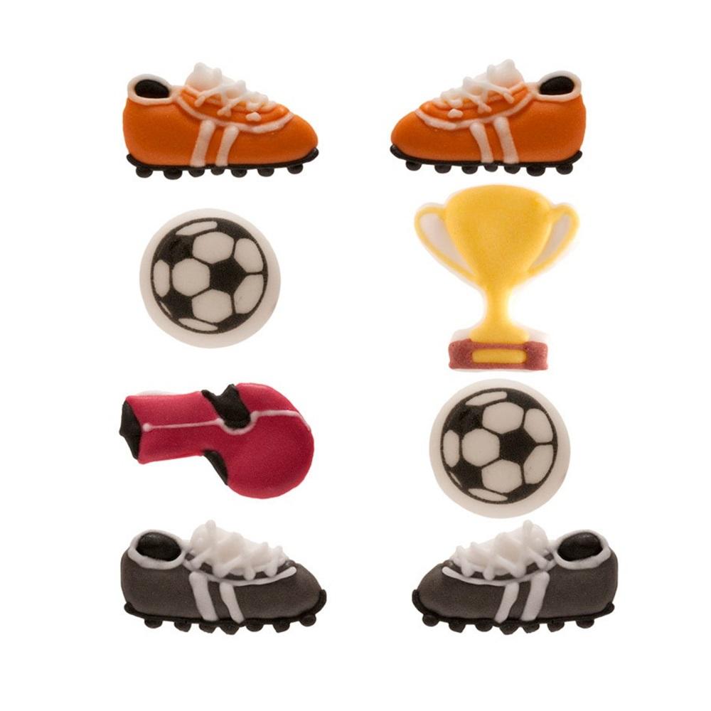 Juego de 8 Decoraciones de Azúcar Fútbol