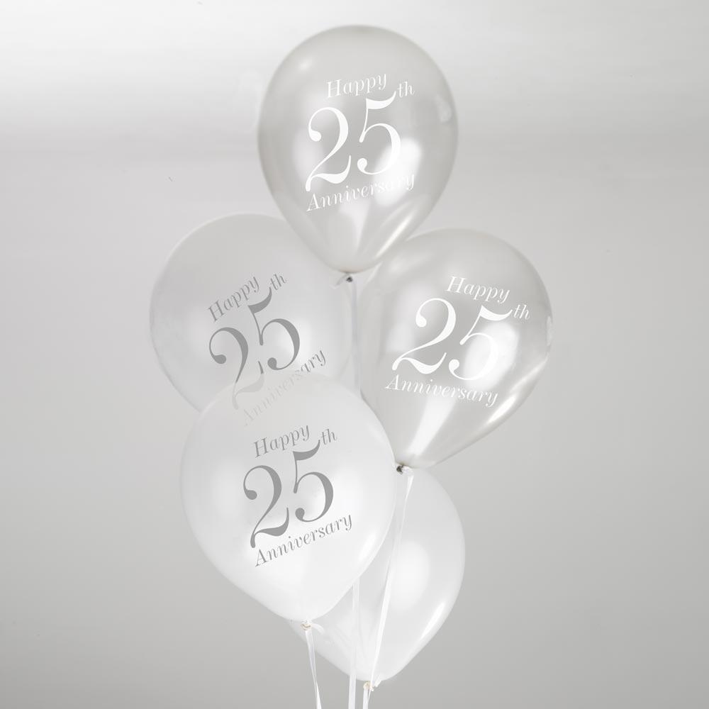 Juego de 8 globos 25 aniversario