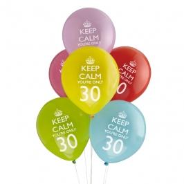 Juego de 8 globos 30 años