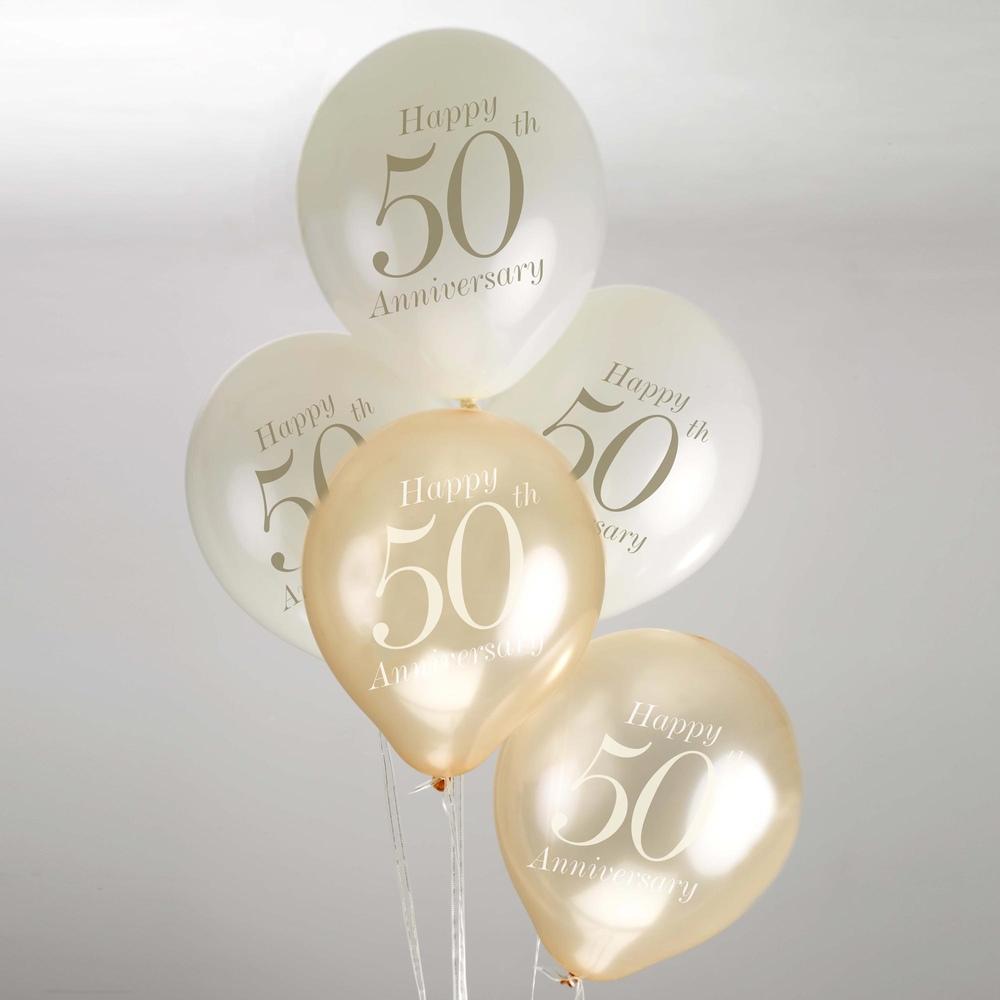 Juego De 8 Globos 50 Aniversario Comprar Online