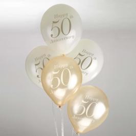 juego de 8 globos 50 aniversario